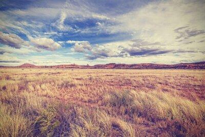 Плакат Урожай ретро стилизованный пейзаж, США