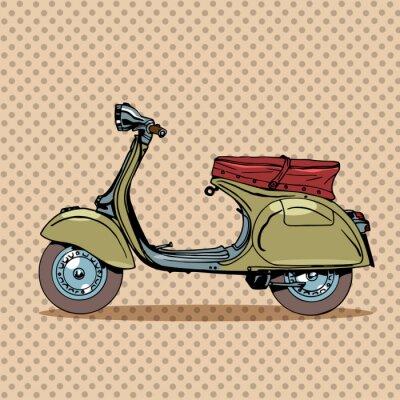Плакат Vintage scooter retro transport