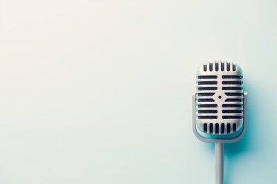 Плакат марочные микрофон серебряный
