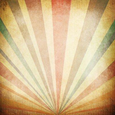 Плакат Vintage Солнечные лучи фона