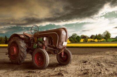 Плакат Урожай Трактор