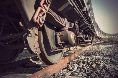 Плакат старинный поезд