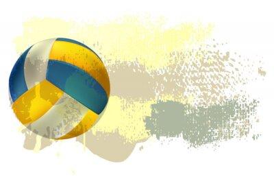 Плакат Волейбол Баннер Все элементы в отдельных слоях и сгруппированы.