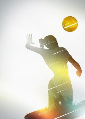 Плакат Волейбол плоская конструкция фон