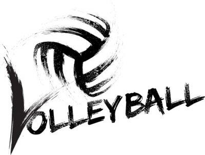 Плакат Волейбол Гранж полосы