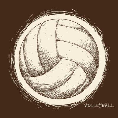Плакат дизайн иконок Волейбол