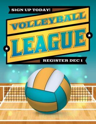 Плакат Volleyball League Flyer Illustration