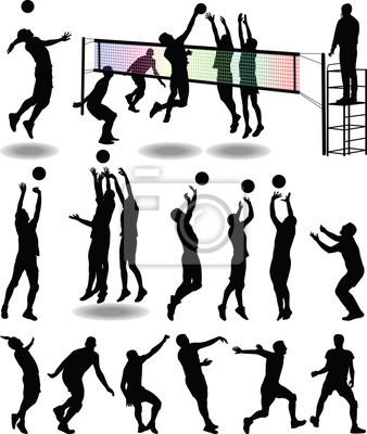 Плакат волейболист