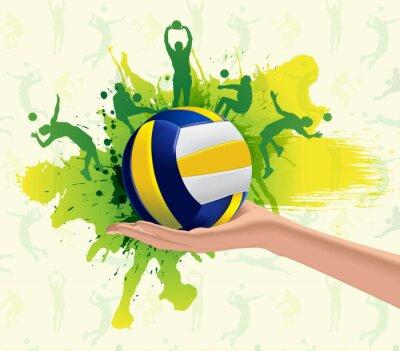 Плакат Волейбол спорт дизайн фона
