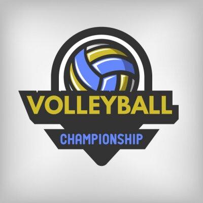 Плакат Волейбол спорт логотип.
