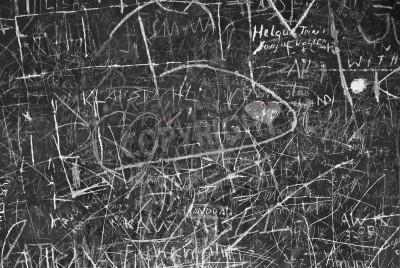 Плакат Стены граффити как символ городского связи