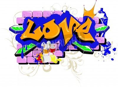 Плакат wall Graffiti love Urban Art