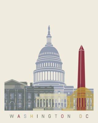 Плакат Вашингтон, округ Колумбия горизонт плакат