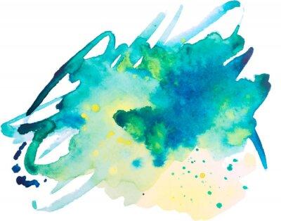 Плакат акварель пятном, фон, изолированных на белом фоне
