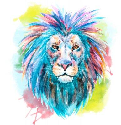 Плакат Акварели вектор лев