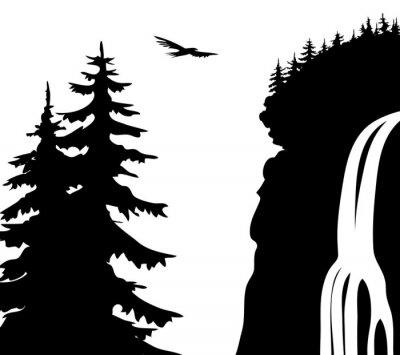 Плакат Водопад.