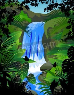 Плакат Водопад