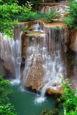 Плакат waterfall in thai national park