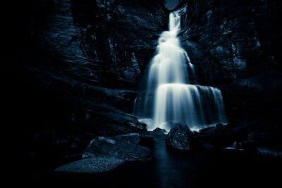 Плакат водопад в ночное время