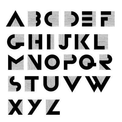 Плакат Широкий декоративные ретро алфавит