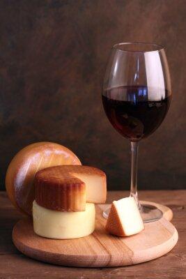 Плакат Вино и сыр