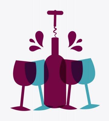 Плакат Вино дизайн.