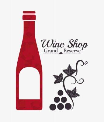 Плакат Вино цифровой дизайн.