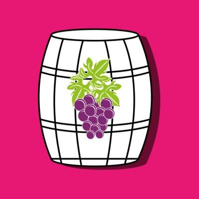 Плакат дизайн иконок вина