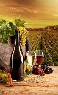 Плакат Вино в винограднике