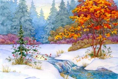 Плакат Зимний лес