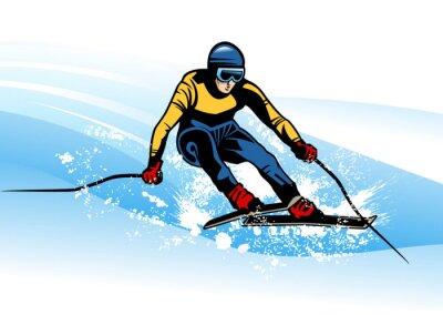 Плакат зимний вид спорта