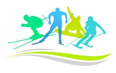 Плакат Зимние виды спорта - 2