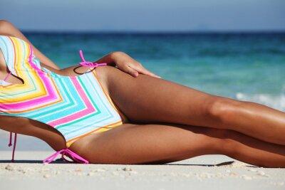 Плакат Женщина, на пляже