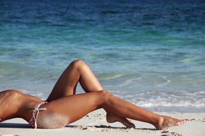 Плакат Женщина на пляже