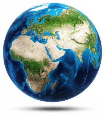 Плакат Всемирный настоящие горы рельеф