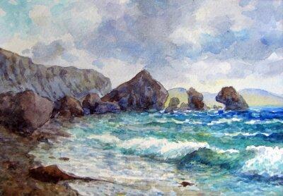 Плакат Скалы у берега.