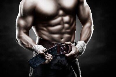 Плакат красивое мужское тело