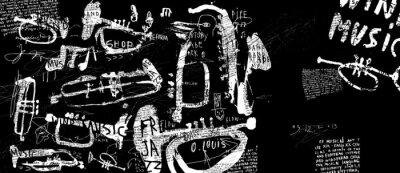 Плакат Духовые музыкальные инструменты