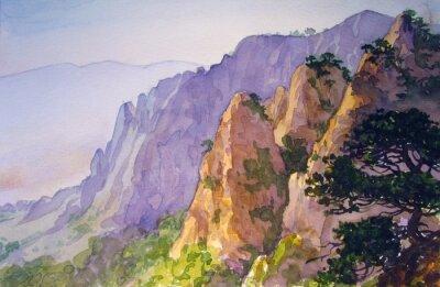 Плакат Вершины гор.