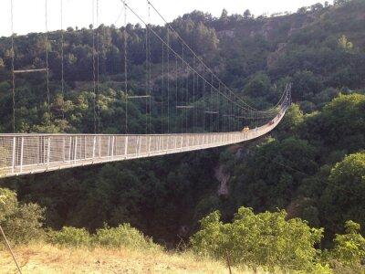 Плакат подвесной мост