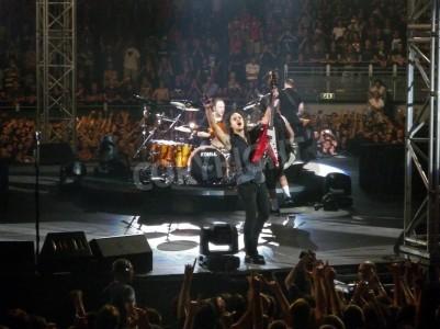 Плакат Концерт группы â € € œMetallicaâ, Рим 24 июня 2009 полосы.