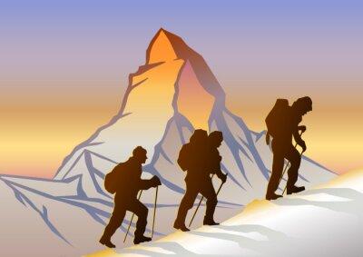 Плакат Matterhorn ве Dağcılar