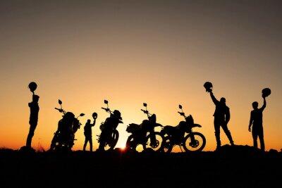 Плакат motorsiklet Takımı