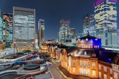 Плакат 東京 駅 夜景