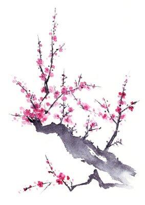 Плакат 梅 水墨画