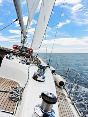 Плакат Яхта лавируя в Адриатическом море