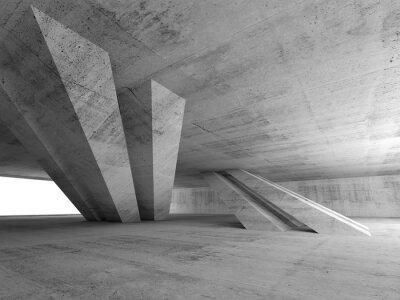 Наклейка 3d абстрактные пустой бетонный интерьер комнаты