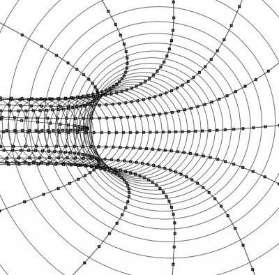 Наклейка 3d абстрактные туннель или труба