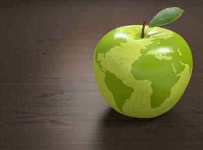 Наклейка 3d яблоко Всемирная организация здравоохранения