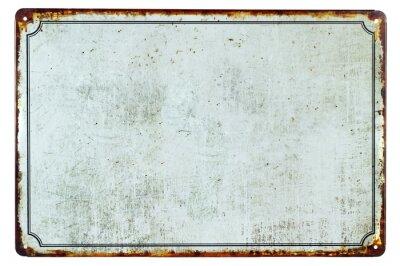 Наклейка Старый пустой ржавый металлический знак с копией пространства фона для вашего текста